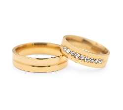 "Golden wedding rings with diamonds ""VMA 116"""
