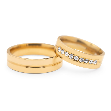 "Golden wedding rings with diamonds ""VMA 116"""