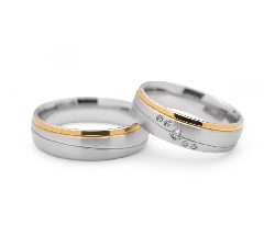 "Golden wedding rings with diamonds ""VMA 103"""