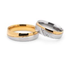 "Golden wedding rings with diamonds ""VKA 102"""