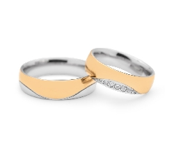 "Golden wedding rings with diamonds ""VKA 097"""