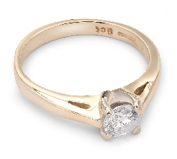 "Engagement ring with brilliant ""Goddess 24"""