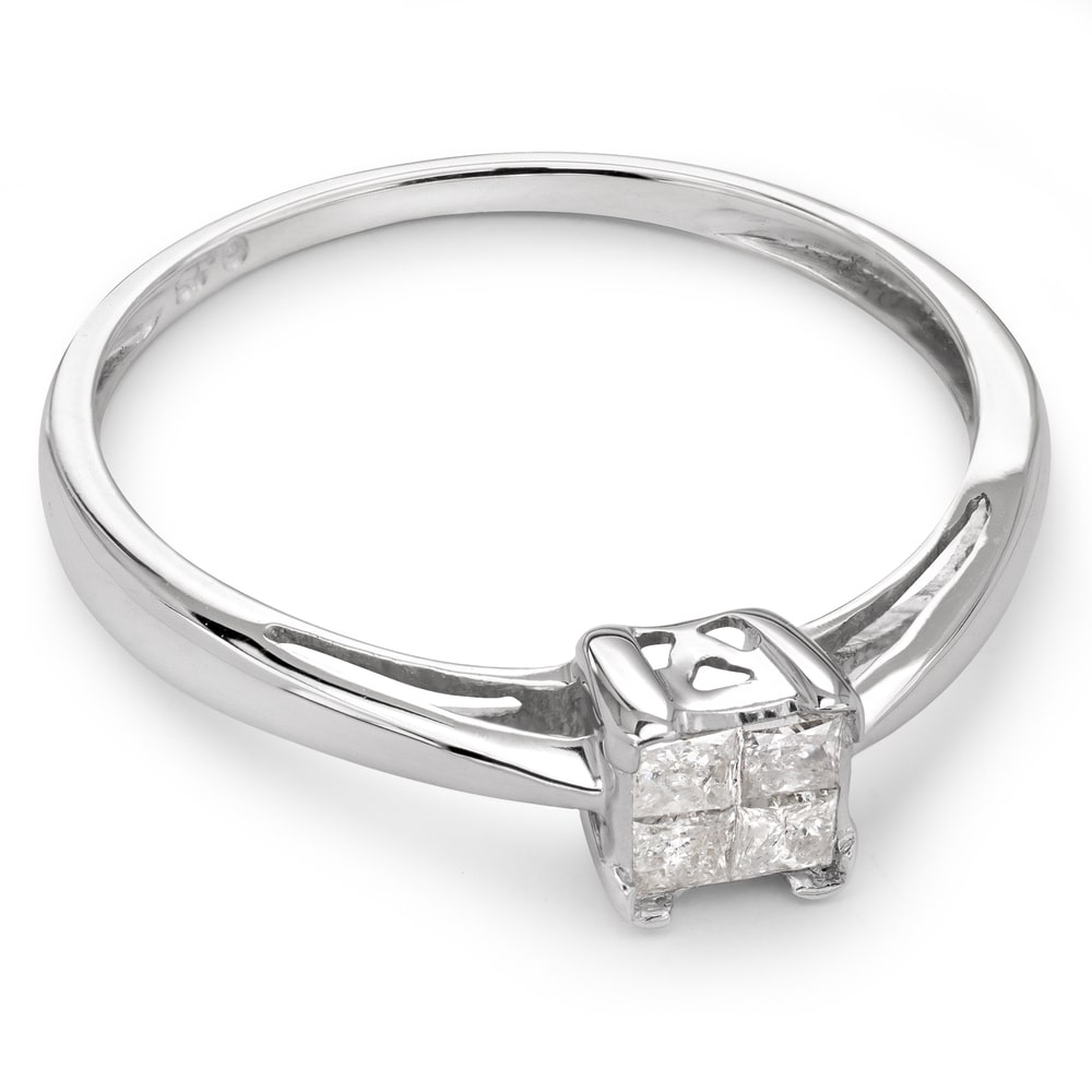"""Engagement ring with diamonds """"Princesses 25"""""""