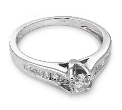 """Auksinis žiedas su Briliantais """"Grakštumas 33"""""""