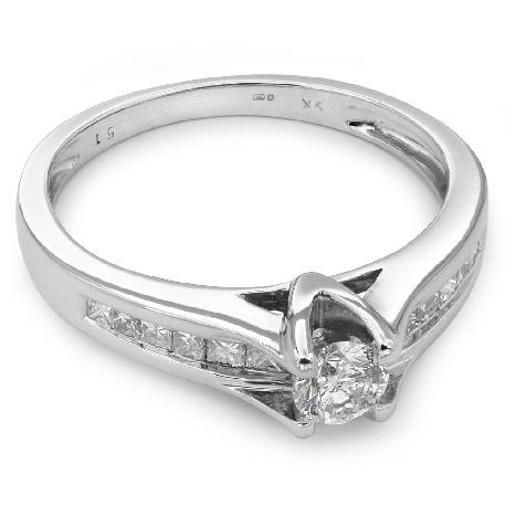 """Auksinis žiedas su Deimantais """"Grakštumas 33"""""""