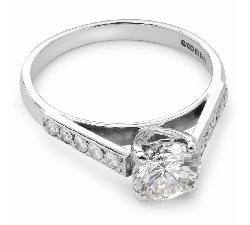 """Auksinis žiedas su Briliantais """"Nepamirštamasis 8"""""""