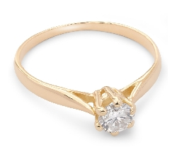 """Engagement ring with brilliant """"Purity 17"""""""