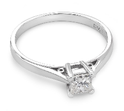 "Engagement ring with diamond ""The only one 19"""
