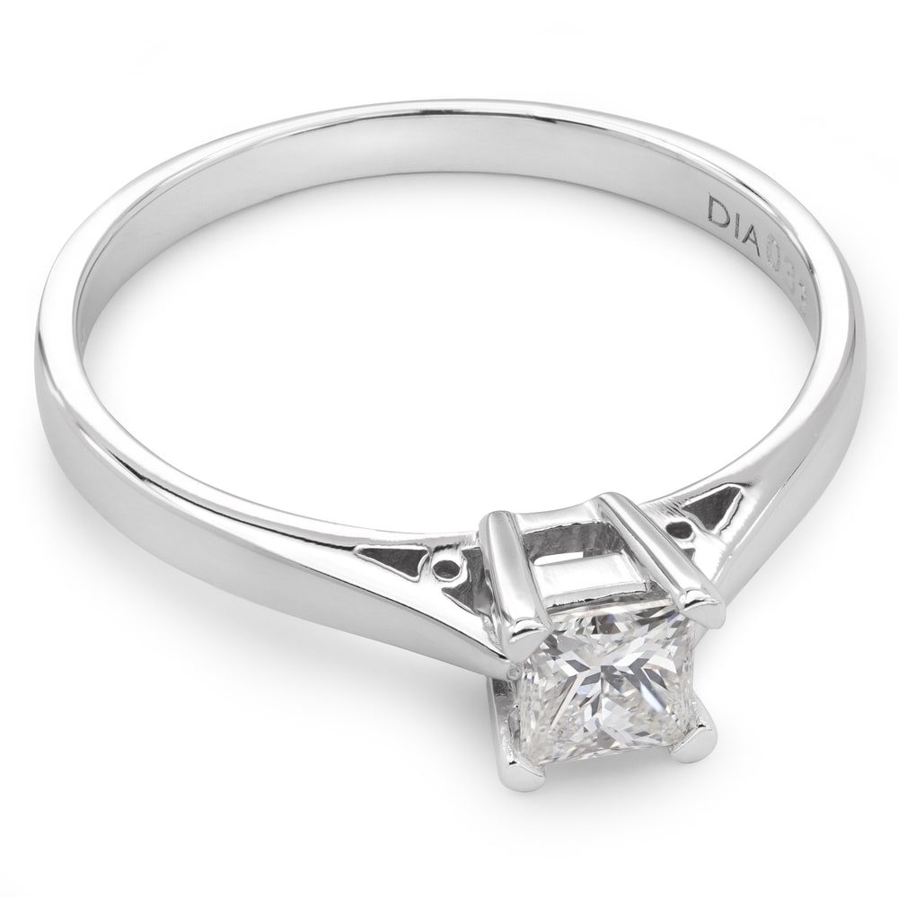"""Engagement ring with diamond """"The only one 19"""""""
