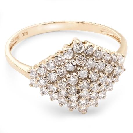 """Auksinis žiedas su Briliantais """"Karūna 7"""""""
