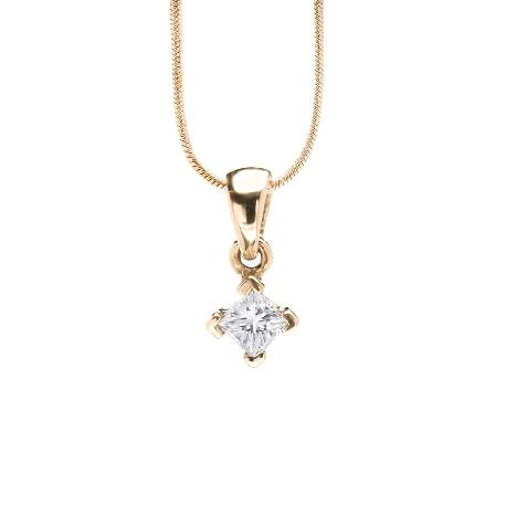 """Auksinis pakabutis su deimantu """"Princesė 14"""""""