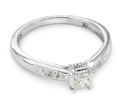 """Engagement ring with diamonds """"Grace 27"""""""
