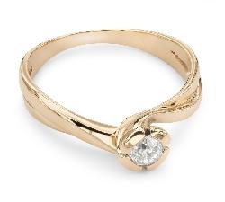 """Auksinis žiedas su Briliantu """"Viesulas 5"""""""