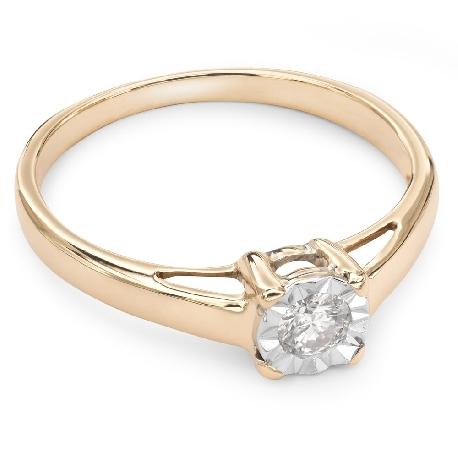 """Auksinis žiedas su Briliantu """"Tvirtybė 43"""""""