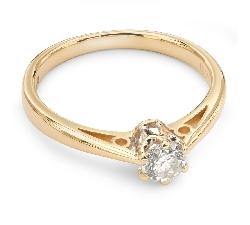 """Auksinis žiedas su Briliantu """"Vienintelė 49"""""""