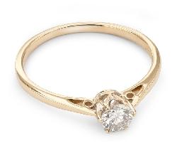 """Auksinis žiedas su Briliantu """"Vienintelė 50"""""""