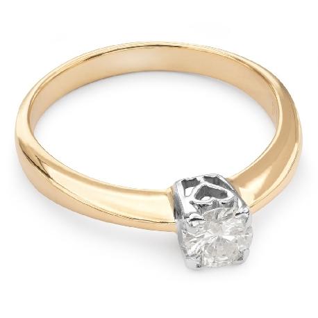 """Auksinis žiedas su Briliantu """"Tvirtybė 44"""""""