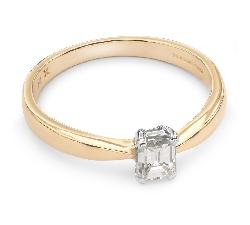 """Auksinis žiedas su Briliantu """"Tvirtybė 45"""""""