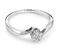 """Auksinis žiedas su Briliantais """"Meilės Glėbyje 12"""""""