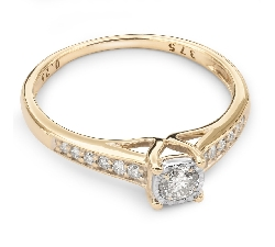 """Auksinis žiedas su Deimantais """"Grakštumas 39"""""""