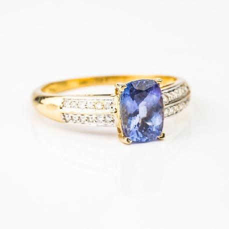 """Auksinis žiedas su Brangakmeniais """"Spalvos 4"""""""