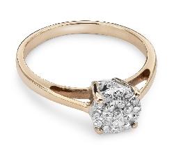 """Auksinis žiedas su Deimantais """"Briliantų puokštė 14"""""""