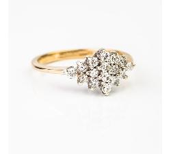 """Auksinis žiedas """"Briliantinė Gėlė"""""""