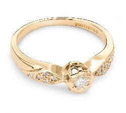 """Auksinis žiedas su Deimantais """"Grakštumas 28"""""""