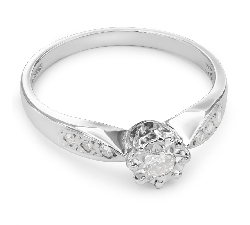 "Engagment ring with brilliants ""Lover 20"""