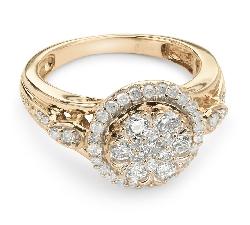 """Auksinis žiedas su Deimantais """"Karūna 8"""""""