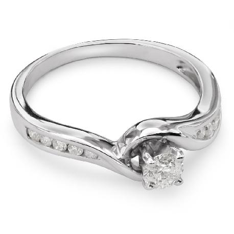 """Auksinis žiedas su Deimantais """"Gyvybė 15"""""""