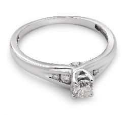 """Engagment ring with brilliants """"Intertwined destinies 15"""""""