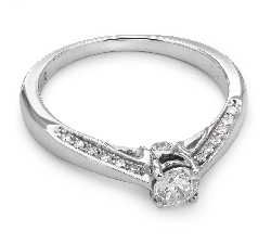 "Engagment ring with brilliants ""Grace 46"""