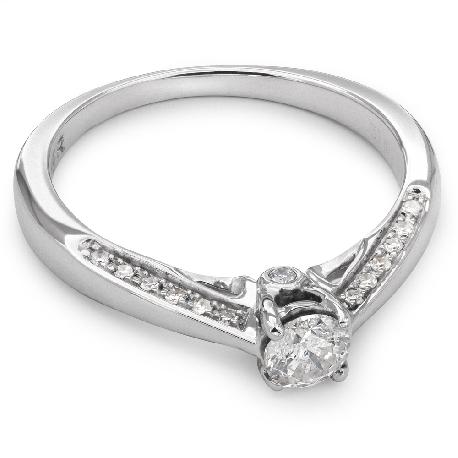 """Auksinis žiedas su Briliantais """"Grakštumas 46"""""""