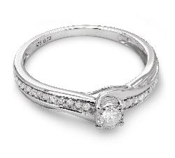 """Auksinis žiedas su Briliantais """"Grakštumas 47"""""""
