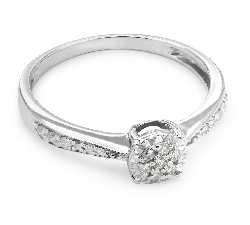 """Auksinis žiedas su Briliantais """"Grakštumas 48"""""""