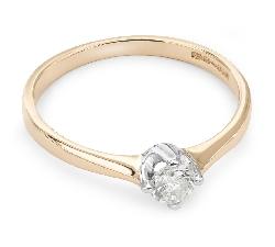 """Auksinis žiedas su Briliantu """"Tvirtybė 46"""""""