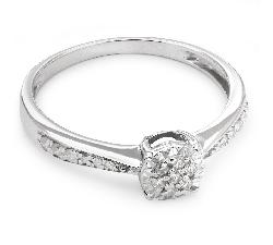 """Auksinis žiedas su Briliantais """"Grakštumas 49"""""""