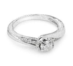 """Auksinis žiedas su Deimantais """"Gyvybė 17"""""""
