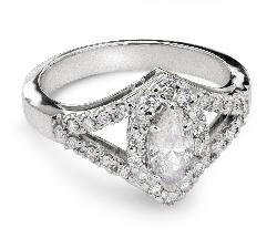 """Auksinis žiedas su Deimantais """"Karūna 10"""""""