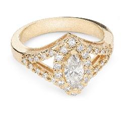 """Auksinis žiedas su Deimantais """"Karūna 11"""""""
