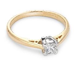 "Engagement ring with diamond ""Princess 18"""