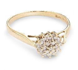 """Auksinis žiedas su Briliantais """"Briliantinė Gėlė 18"""""""
