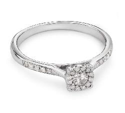 """Auksinis žiedas su Deimantais """"Briliantų Puokštė 23"""""""