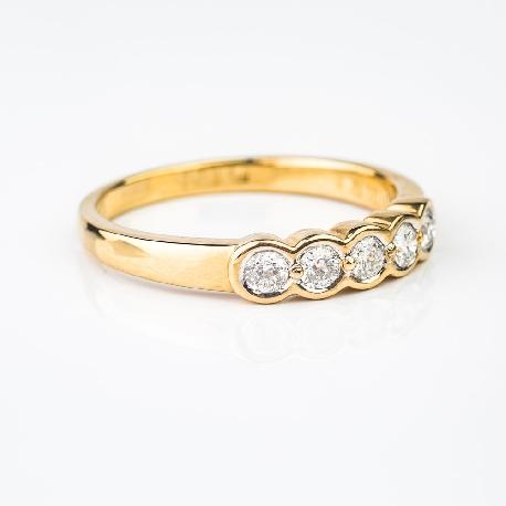 """Auksinis žiedas su Briliantais """"Deimantinė juostelė 3"""""""