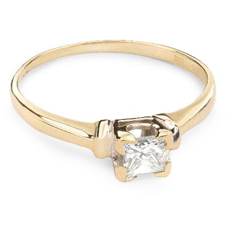 "Engagement ring with diamond ""Princess 19"""