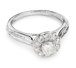 """Engagment ring with brilliants """"Bouquet of diamonds 26"""""""