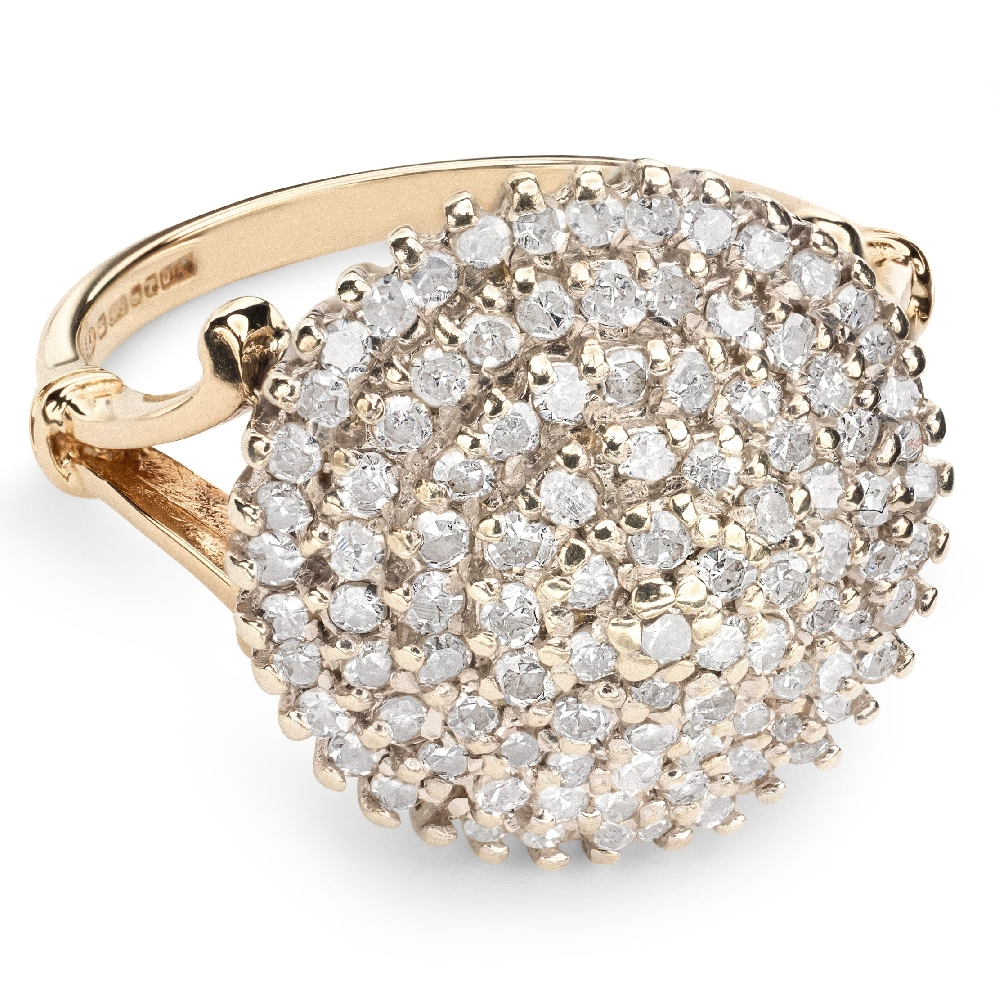 """Gold ring with brilliants """"Bouquet of diamonds 25"""""""