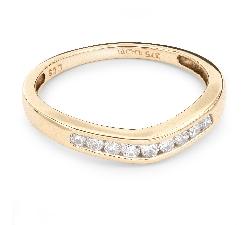 """Auksinis žiedas su Briliantais """"Deimantinė Juostelė 20"""""""