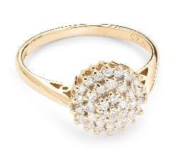 """Auksinis žiedas su Briliantais """"Briliantinė Gėlė 19"""""""